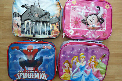 Kids Boys Girls Disney Character Lunch Pack Set With  Drink Bottle & Box • 13.95£