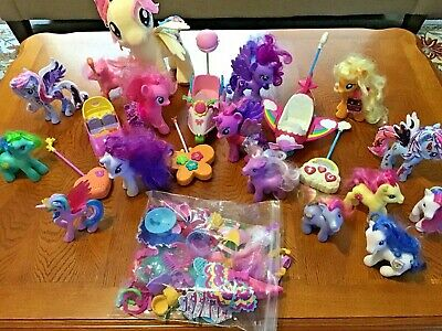 My Little Pony Remote Contol Scooter, Airplane, Car Plus 15 Ponies & Accessories • 21.70£