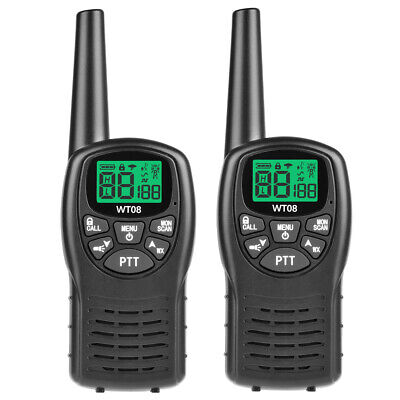 $ CDN42.17 • Buy 2X WT-08 9KM Walkie Talkie Long Range 2-Way Radio 8CH LCD Communication Intercom