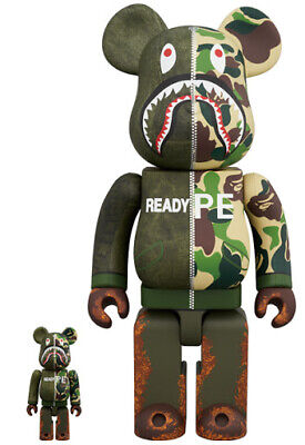 $1280 • Buy Medicom Toy BE@RBRICK Bearbrick READYMADE × A BATHING APE 100% & 400% Japan