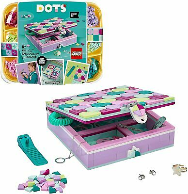 LEGO 41915 DOTS Jewellery Box Tiles Beads Set, DIY Arts And Crafts For Kids, Roo • 19.70£