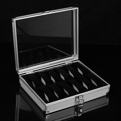 $ CDN36.58 • Buy 12 Grids Metal Watch Display Case Jewelry Collection Storage Holder Box Cases