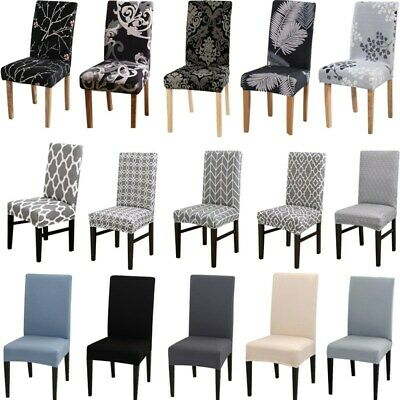 £4.93 • Buy Elastic Dining Chair Covers Kitchen Chair Protective Covers Xmas Slipcovers UK