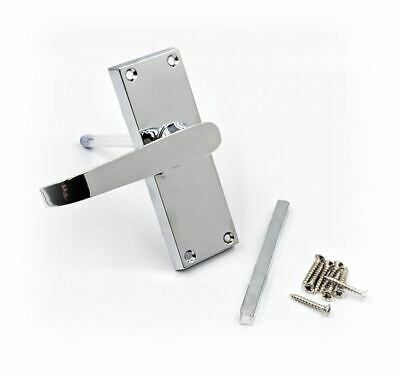 Pair Polished Chrome Door Handles Internal Lever Latch Silver Handle Furniture • 6.95£