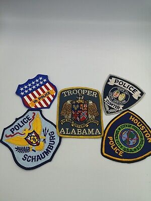 American USA Police Badges/patches Fabric Alabama Houston + Others • 29.95£