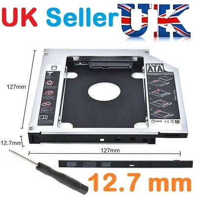 £5.99 • Buy SATA 2nd HDD SSD Hard Drive Caddy Case For 12.7 Mm Universal Laptop CD / DVD-ROM