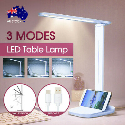 AU15.99 • Buy Touch LED Desk Lamp Bedside Study Reading Table Light USB Ports Dimmable AU