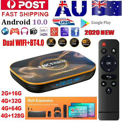 AU86.99 • Buy HK1 R1 4+128G Android 10.0 Dual WIFI BT 4K TV BOX Keyboard HDMI Media Streamer