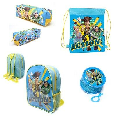 Toy Story Buzz Woody Backpack Disney School Sports PE Kids Coin Bag Pencil Case  • 3.79£
