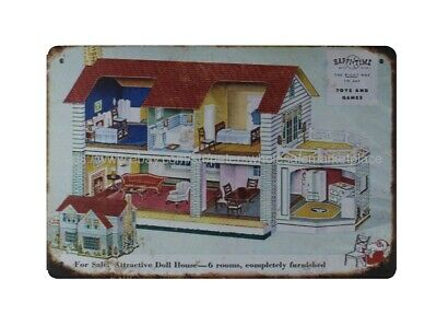 Happi-Time Doll House Toys And Games Metal Tin Sign Metal Plaque • 11.57£