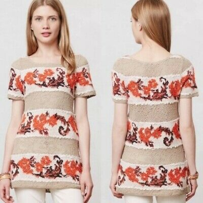 $ CDN50 • Buy Anthropologie Cashmere Blend Knitted Tunic Size XS Knitted & Knotted Bouquet Top
