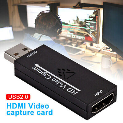 Portable HDMI To USB 2.0 HD 1080P Recorder Live Stream Video Capture Card Audio • 6.40£