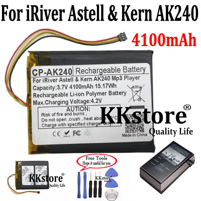 Rechargeable 4100mAh 15.17Wh Battery For IRiver Astell & Kern AK240 Mp3 Player • 28.85£