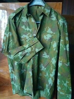 $28 • Buy  Red Brown Autumn Leaf Camouflage  M90 Romanian Army Camo Woodland  Shirt RRR
