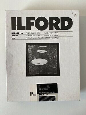 ILFORD Multigrade III RC Deluxe 8 X 10 In Photo Paper Pearl 225 Sheets Mgx.44m • 99.99£