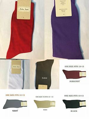 $4.99 • Buy Men's 1 Pairs High Quality Solid Color Dress Socks One Size 10~13