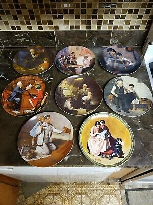 $ CDN16.87 • Buy Norman Rockwell Collector's Plates Lot- 8 Plates