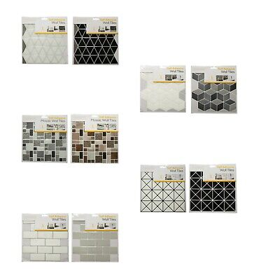 PVC Self Adhesive Tile Tastic Sticker Kitchen,Bathroom Wall Tile DIY Home Decor • 5.79£