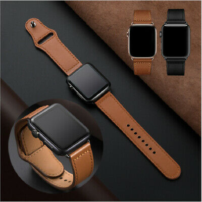 AU11.79 • Buy 【Made Of Leather】Apple Watch Band Strap For IWatch Series 5 4 3 2 1 38 42 40 44m