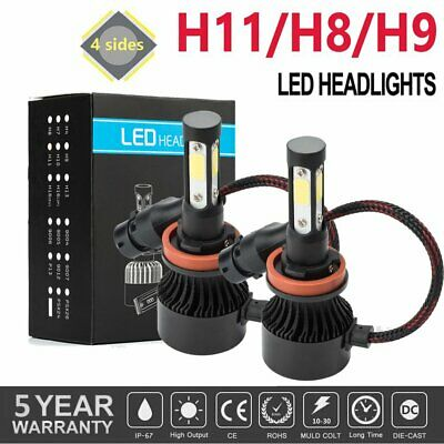 AU19.91 • Buy Pair H8/H9/H11 120W 26000LM LED Headlight Globe Beam Bulb 6500K White High Power