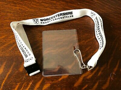 WORCESTERSHIRE COUNTY CRICKET CLUB White Lanyard • 4.99£