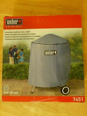 $ CDN25 • Buy Weber Charcoal Grill Cover 7451 Standard Kettle 22.5  Gray