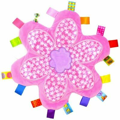 £5.99 • Buy Cute Baby Girl Newborn Flower Taggie Taggy Comforter Blanket Soother Toy Gift