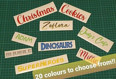 £2.30 • Buy Personalised Names/word Stickers, Vinyl For Bottles, Labelling Etc..  24 Colours