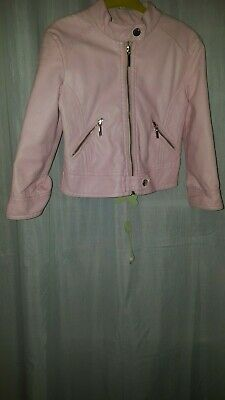 Lovely Baby Girl Spanish Designer  Mayoral Leather Look Pink Jacket Size T2  • 15£