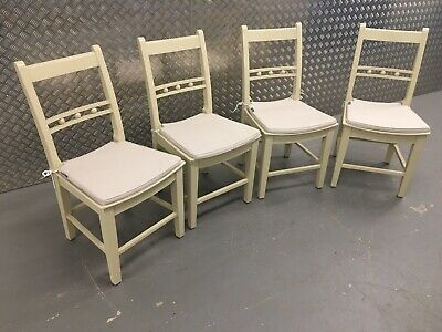 4x Neptune Suffolk Kitchen Dining Room Chairs In Limestone + Cushions RRP£1200 • 725£