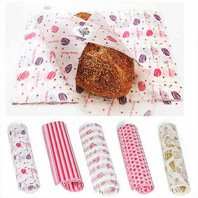 £6.55 • Buy 50Pcs Wax Paper Food Wrapping Hambur Sandwich Bread Candy Wrap Paper Disposable