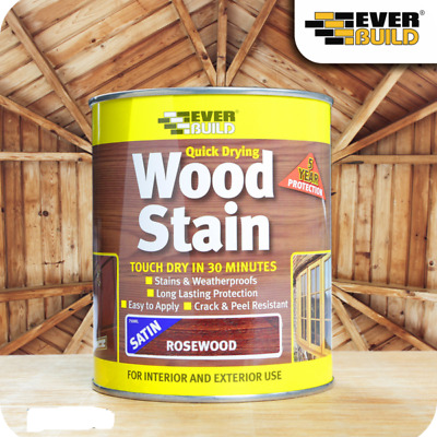 £9.99 • Buy Rosewood Wood Stain Varnish Indoor Outdoor Quick Drying 250ml Acrylic Based