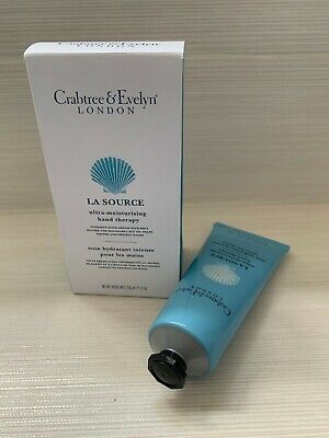 CRABTREE & EVELYN  LA SOURCE Hand Therapy Cream 100g NEW WITH BOX And SEALED  • 14.50£