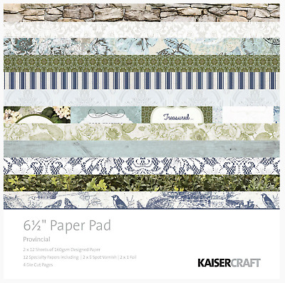 £5.25 • Buy PROVINCIAL - Kaisercraft 6.5  X 6.5  Paper Pad 24 Sheets - Classic/Nature