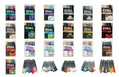 AU40.50 • Buy Tombow Dual Brush Twin Tip Pen Markers - Set Of 10 (Choose Your Pack)
