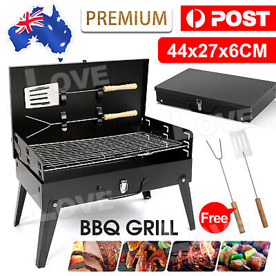 AU24.95 • Buy Charcoal BBQ Grill Hibachi Barbecue Portable Folding Steel Roast Camping Picnic