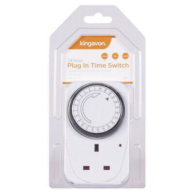 £6.17 • Buy 24 Hour Plug In Time Switch | Easy And Economic To Use Energy Saving
