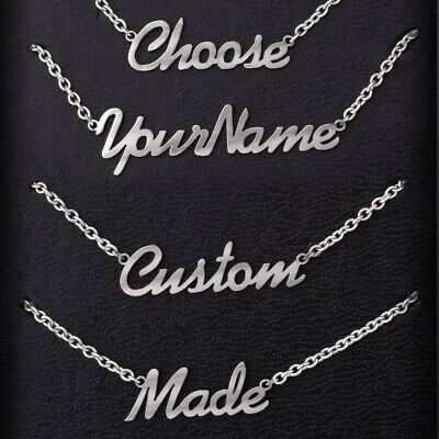 Personalised Name Necklace Custom Nameplate Chain Stainless Steel Jewellery Gift • 9.95£