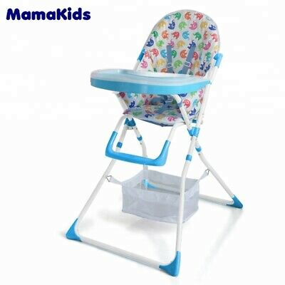 Mamakids HC-15DS Baby Folding Adjustable Blue High Feeding Chair • 39.99£