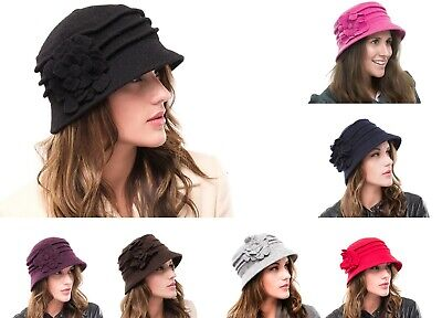 Ladies Outdoor Knitted Wool Casual Walking Church Cloche Hat  • 14.99£