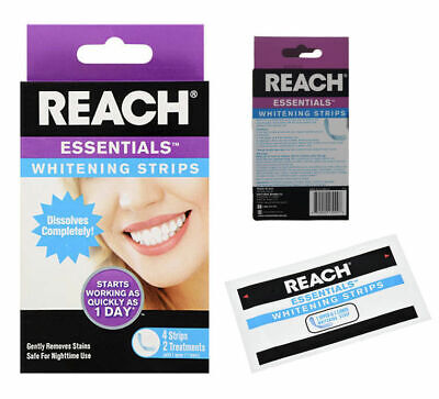 AU13 • Buy Reach Teeth Whitening Strips Dental Oral Care Makes A Brighter Smile 4 Strips