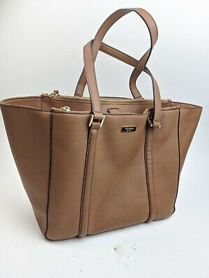 $ CDN82.92 • Buy Kate Spade Large Brown Saffiano Leather Tote Bag
