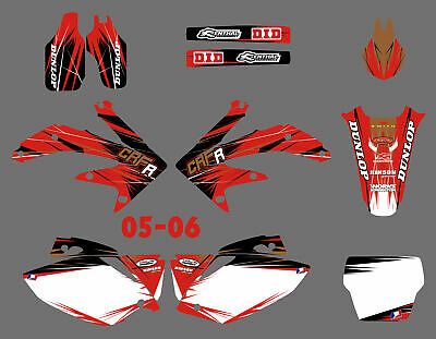 $49.99 • Buy Team Graphics & Backgrounds Decals Kit For Honda CRF450R CRF450 2005-2006 05 06