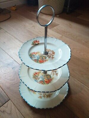 Vintage Parrot & Co Coronet Ware Three Tier Cake Stand • 9.99£