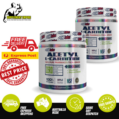 AU47.15 • Buy 2 X EHP LABS ACETYL L CARNITINE WEIGHT LOSS FAT BURNER ALC 100 Serves TWIN PACK