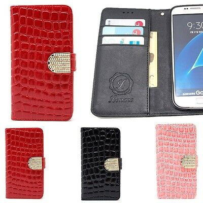 $ CDN31.80 • Buy Cubic Croco Wallet Case For Samsung Galaxy Note10 10+ Note9 Note8 Note5 Note4