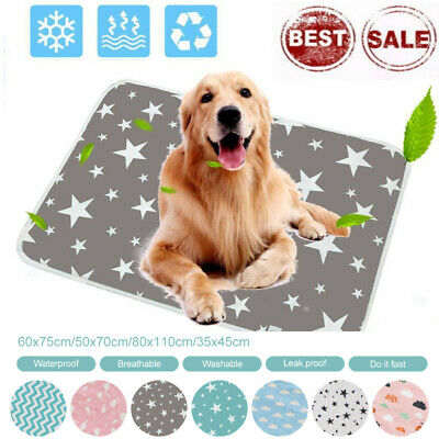 £9.99 • Buy Pet Pee Pads Mats Large Puppy Training Pad Toilet Pee Wee Cat Pet Dog Washable