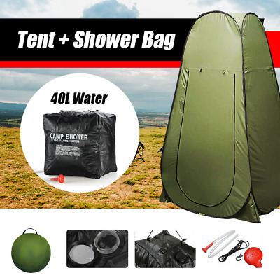 AU33.99 • Buy Portable Pop Up Outdoor Camping Tent Shower Change Room With Shower Bag AU Stock