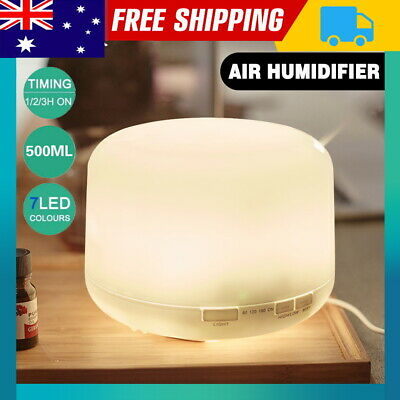 AU23.99 • Buy 300/500ml LED Humidifiers Essential Oil Air Diffuser Ultrasonic Aromatherapy
