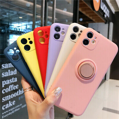 AU5.99 • Buy For IPhone 11 12 Pro Max XR X Liquid Soft Shockproof Case Cover With Ring Stand